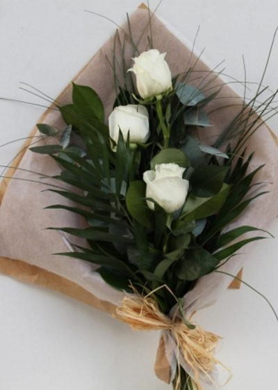 Ramo de 3 Rosas Blancas