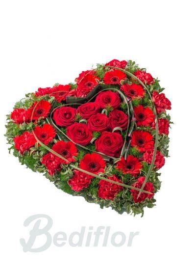 Envio Corazon Funerario Tanatorio Envio Urgente Rojo