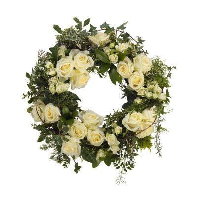 Corona Funeraria Blanca Urgente Tanatorio