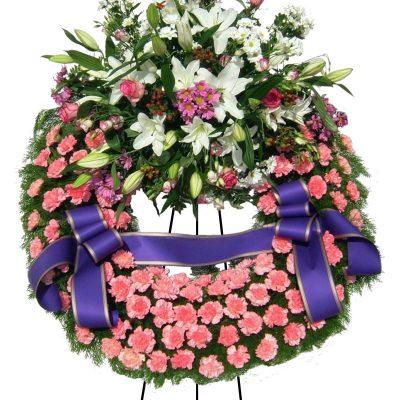 Corona Urgente Clavel Flor Variada Tanatorio