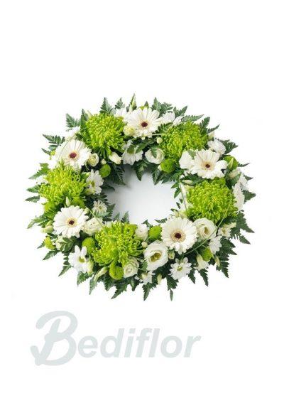 Corona Funeraria Blanca Verde Tanatorio Urgente