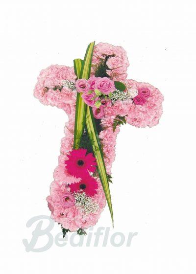 Cruz Funeraria Tonos Rosados Tanatorio Urgente