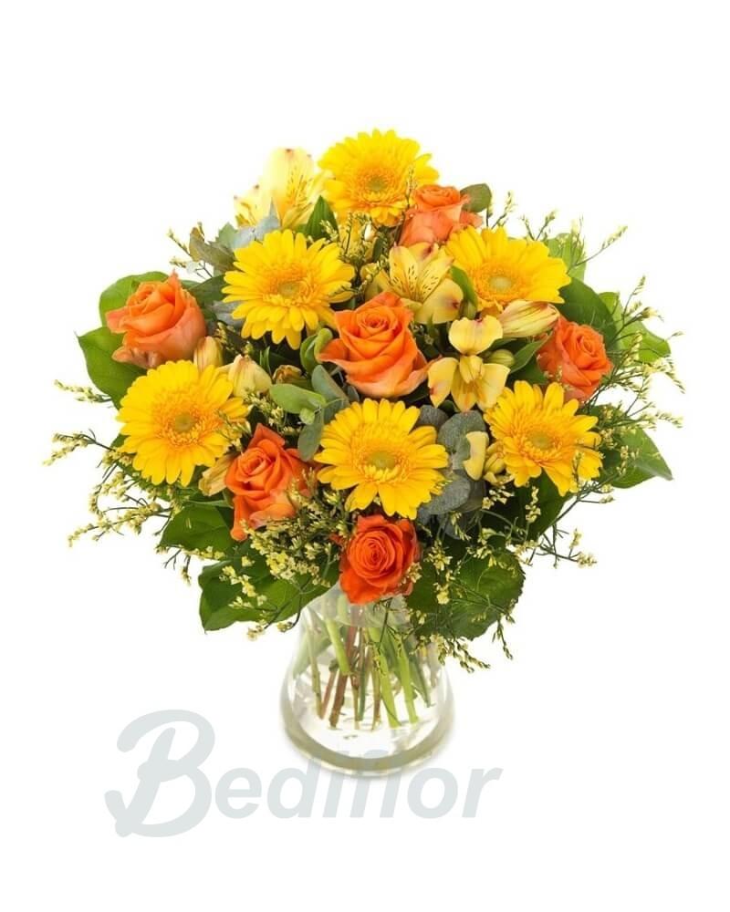 Ramo amarillo y naranja bediflor env a tus ramos de - Amarillo naranja ...