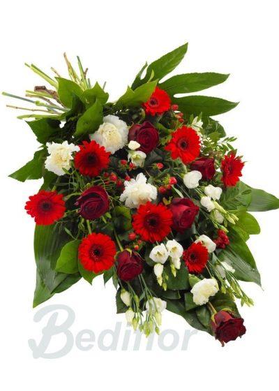 Ramo Funerario Rojo Blanco Tanatorio Urgente