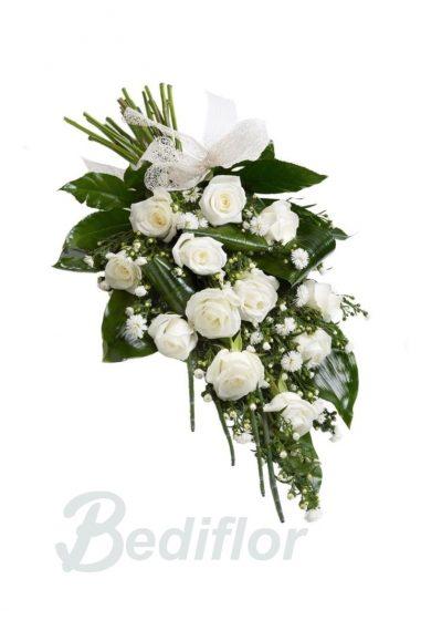 Envio Ramo Funerario 12 Rosas Blancas Tanatorio Urgente