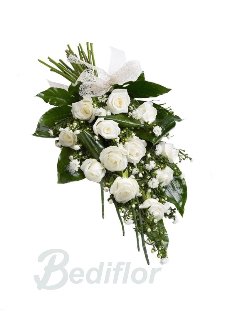 Ramo Funerario De 12 Rosas Blancas Bediflor Envía Tus Ramos De Funeral