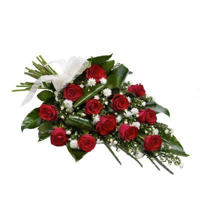 Envio Ramo 12 Rosas Rojas para Tanatorio Envio Urgente