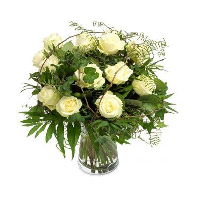 Ramo 12 Rosas Blancas Regalo Domicilio