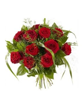 Ramo de 12 Rosas Tallo Largo
