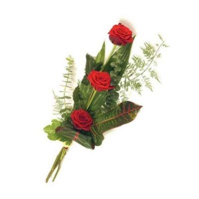 Ramo 3 Rosas Rojas Amor Domicilio