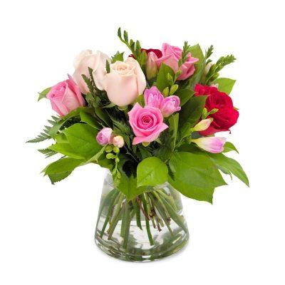 Ramo Rosas Variadas Rosadas Regalo Domicilio