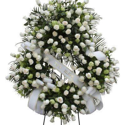 Corona Rosas Blancas Tanatorio Urgente