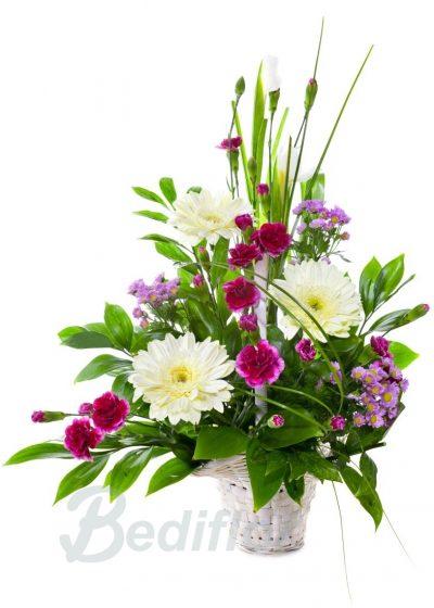 Enviar Cesta flor Moarada
