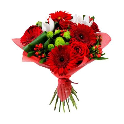 Ramo Rojo Flor Variado Regalo Domicilio