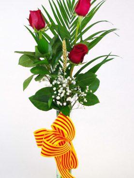 Ramo 3 Rosas Rojas - Sant Jordi