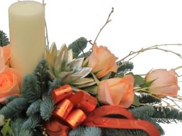 flores y centros navideños